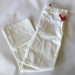 Spanx Denim Flare Cropped Jeans Small White NWT